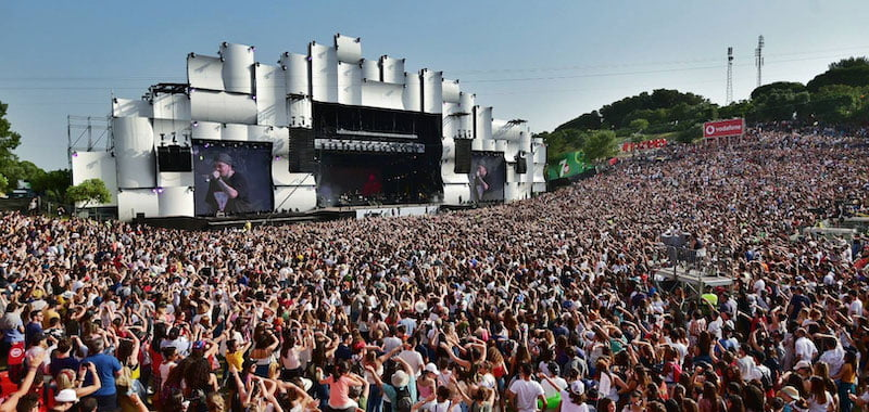 A capacity crowd at Rock City/IMM's Rock in Rio Lisboa (Lisbon) 2018
