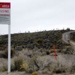 A warning sign near Area 51 in Rachel, Nevada