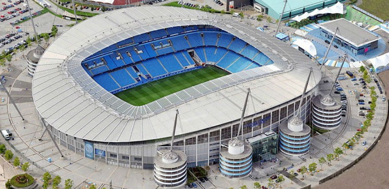 The OVG arena would be located at Etihad Campus, home to Manchester City FC's Etihad Stadium