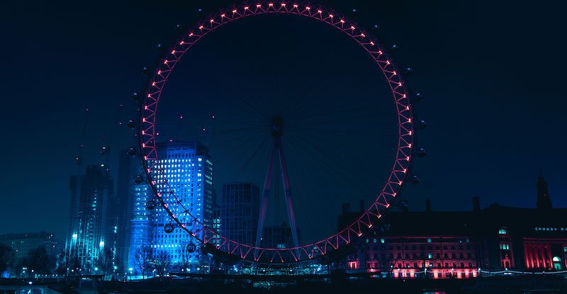 A blurred version of this image of the London Eye is featured on the Primavera Sound website