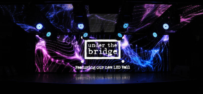 Under the Bridge (UTB) LED wall