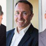 L–R: Harvey Lister, CEO Asia Pacific, John Sharkey, EVP European operations, Mark Rozells, CFO