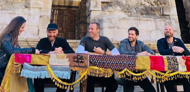 Coldplay are currently promoting Everyday Life in Jordan