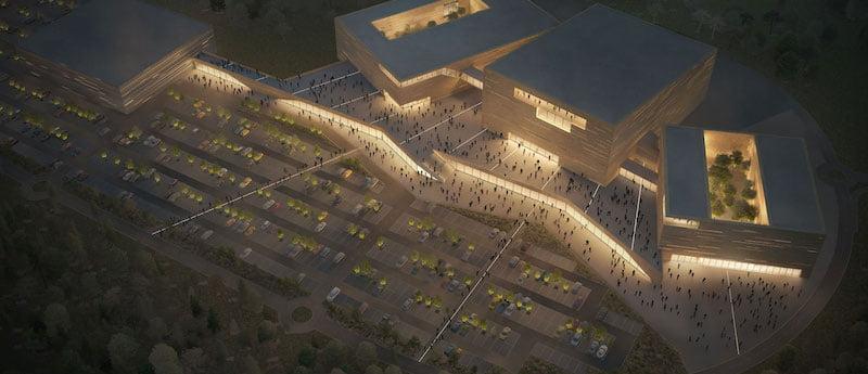 New Edinburgh arena by night