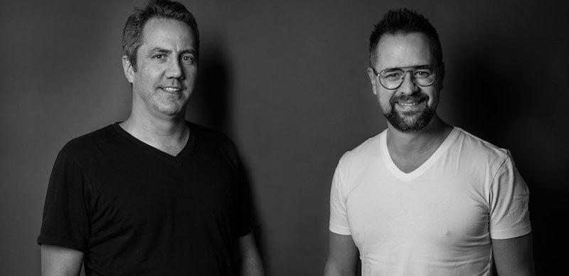 Nicolas Bonard, CEO of Montreux Media Ventures, with festival CEO Mathieu Jaton