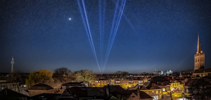 Lighting companies illuminate the sky for key workers