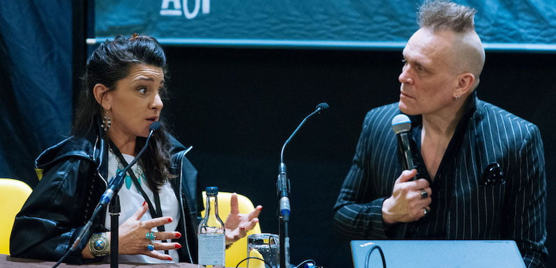 YUAF's Kerry O'Brien and the Membranes' John Robb on the It's A Human Story panel