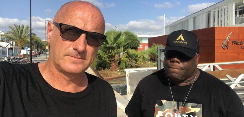 DJ Carl Cox with tour manager Ian Hussey