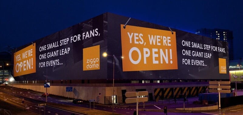 Amsterdam's Ziggo Dome reopens for 30 fans