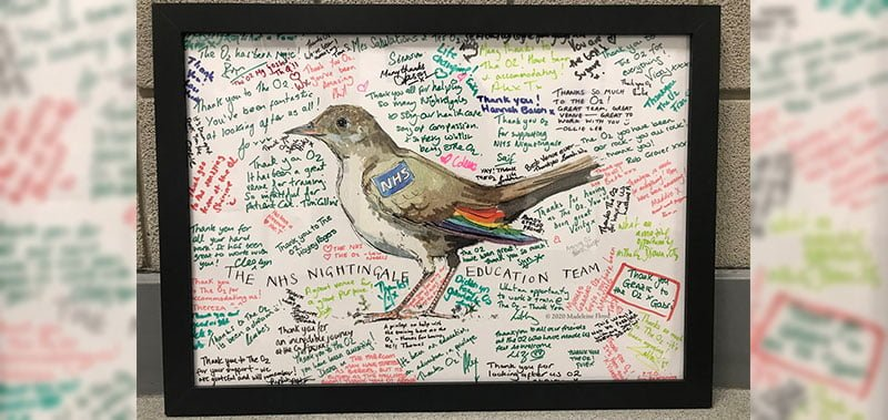 The commemorative artwork by Madeleine Floyd