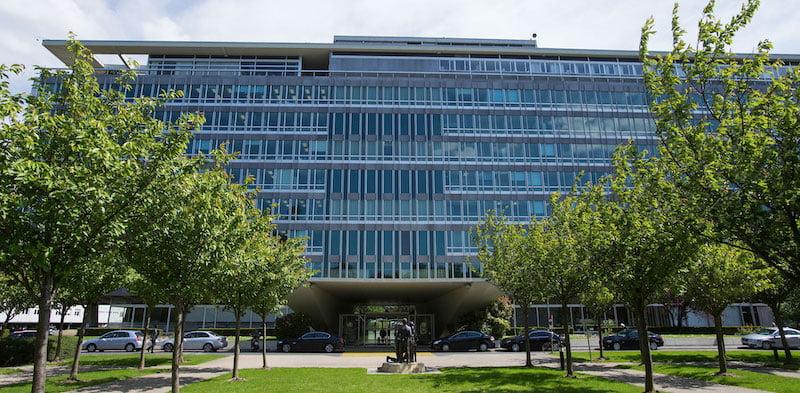 The World Health Organization (WHO) building in Geneva