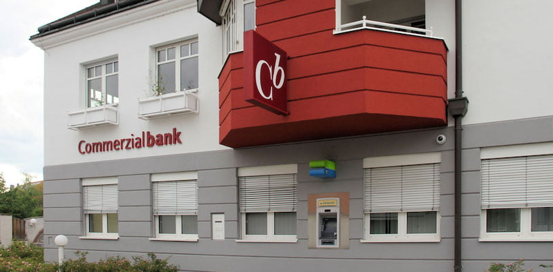 A Commerzialbank Mattersburg branch in Hirm, Austria