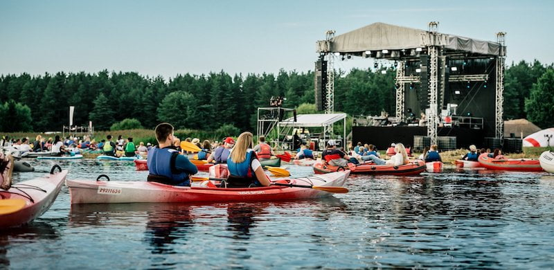 Guests enjoyed the float-in music festival from the comfort of their own boat
