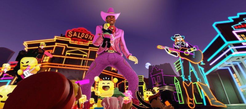 Lil Nas X's performance in Roblox