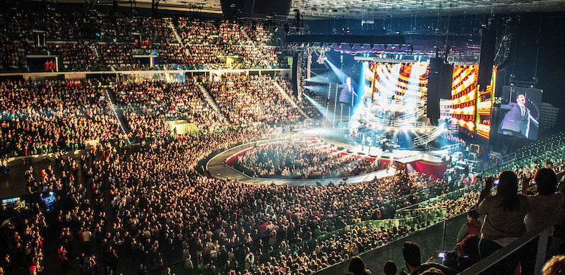 Pala Alpitour seats up to 18,500 in concert format