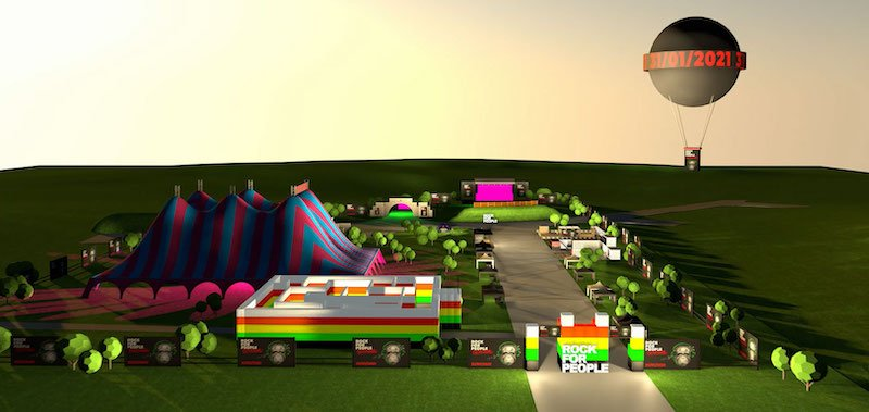 Rock for People in the Game recreates the RfP festival site