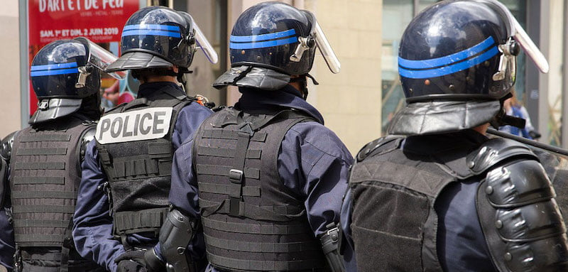 Armed police in Montpellier