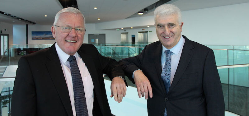 Bob Prattey (left) with ACC Liverpool chair Max Steinberg
