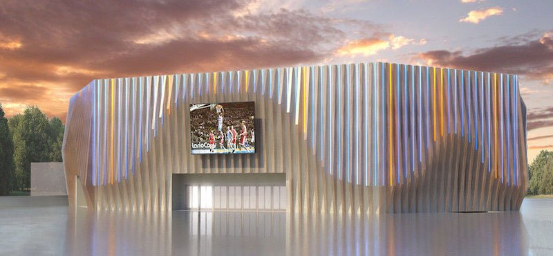 Rendering of the new Cantù arena