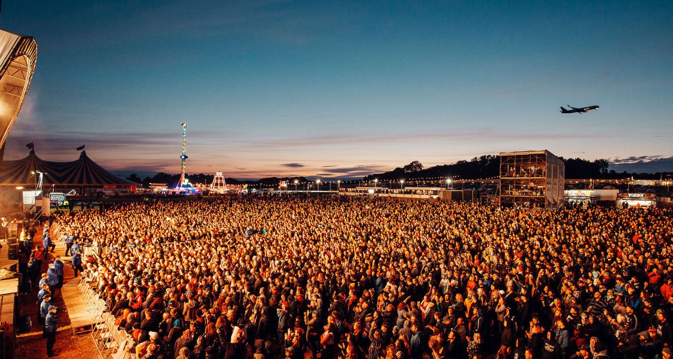 Crowds gather at Download Pilot for Bullet for My Valentine's headline slot